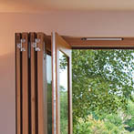 Quarter sawn seasoned oak folding/sliding doors